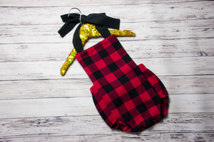 Buffalo Plaid Romper