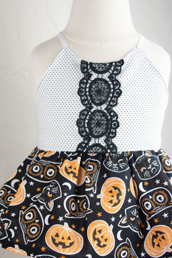Cat and Pumpkin Halloween Dress