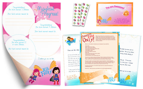 The Kid Fairy Letter Superhero Girl