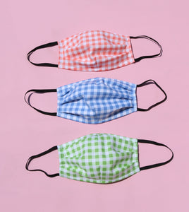 Fabric Gingham Face Mask