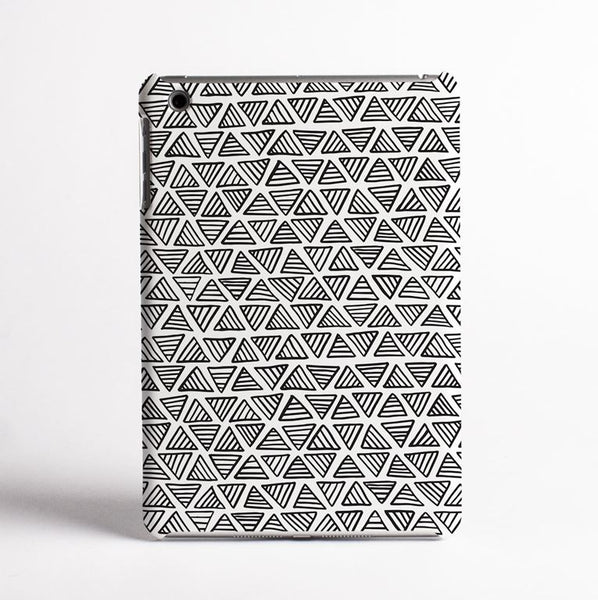 Triangles (White) - Tablet Case