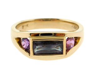 Alexandrite and Pink Sapphire Ring