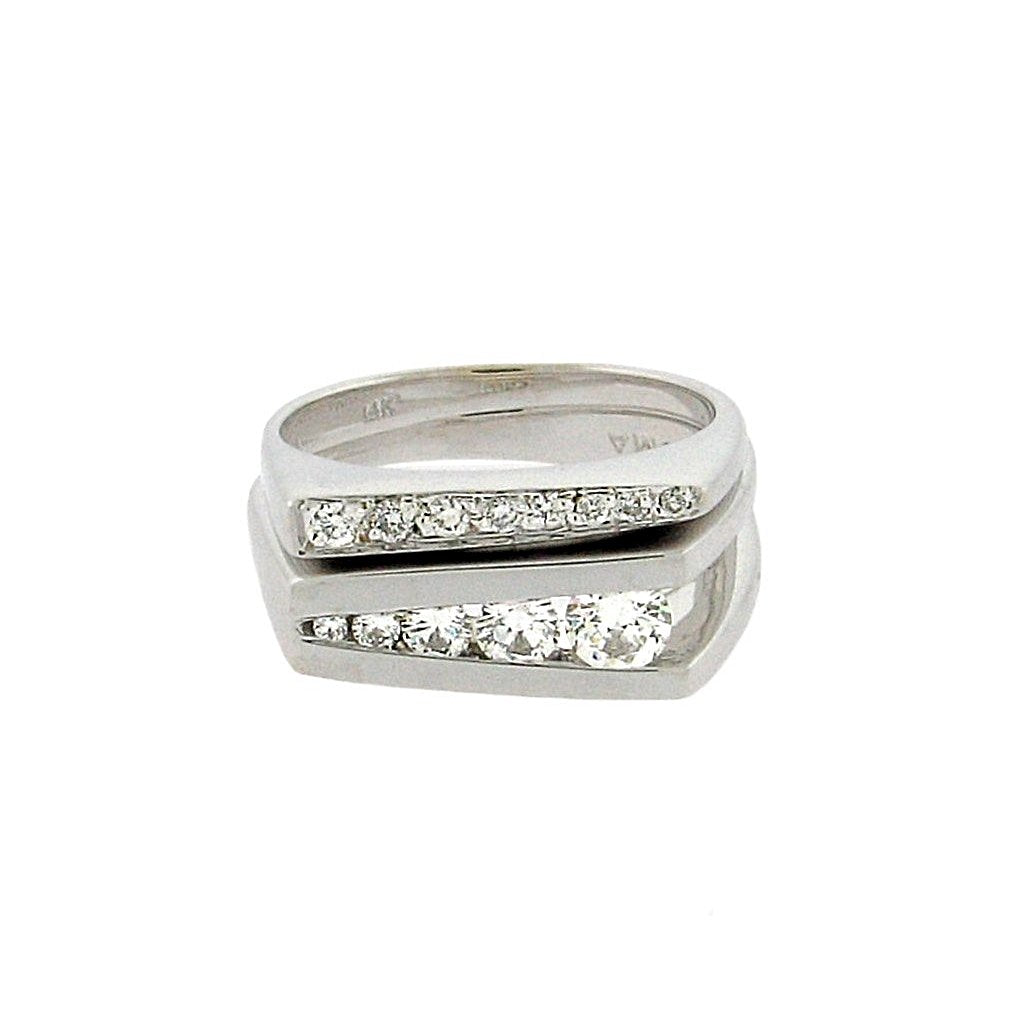 band  .12 ct total weight diamonds, 14 k white gold—style 1060  ring  .35 ct total weight diamonds, 14 k white gold—style 1062