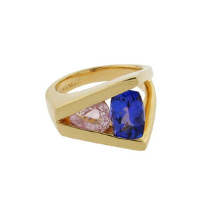 Tanzanite and Quartz Ring