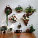 Hanging Wall Wicker Basket • Plant / Storage - lucidskins
