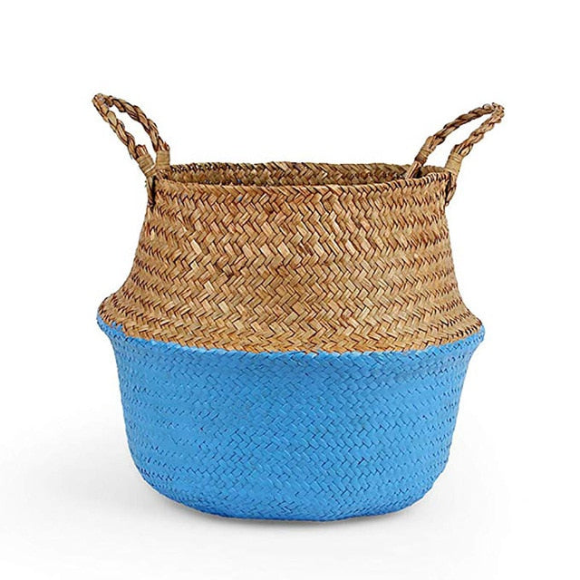 Woven Seagrass Wicker Baskets • Plants, Storage, Organize for Home - lucidskins