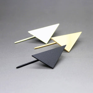 Kite • Minimal Paper Airplane Geometric Angle Retro Mod Earrings - lucidskins