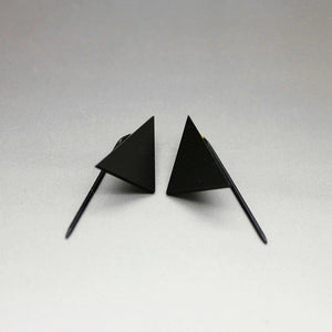Kite • Minimal Paper Airplane Geometric Angle Retro Mod Earrings