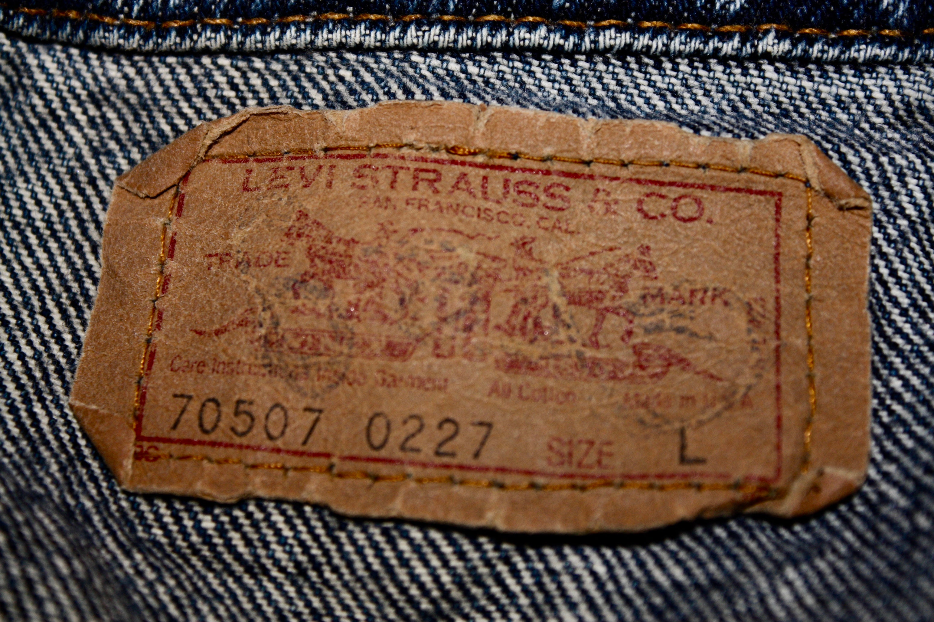 Original 1984 Levis Strauss Denim Jacket