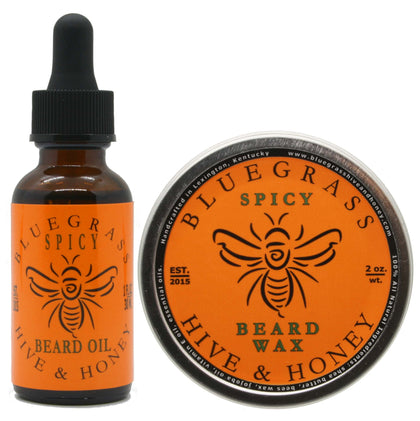Spicy Beard Wax & Oil Bundle