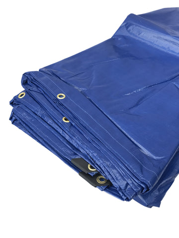 Heavy Duty Poly Tarp 200 GSM - Blue - Flynn Tarp Sales