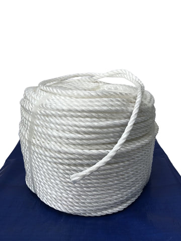 250m coil 8mm Silver Rope - Tarp Accesory - Flynn Tarp Sales