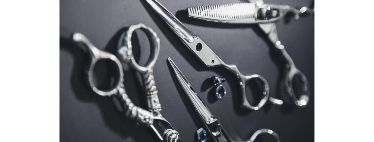 sharpened hairdressing scissors by bladesmith in UK