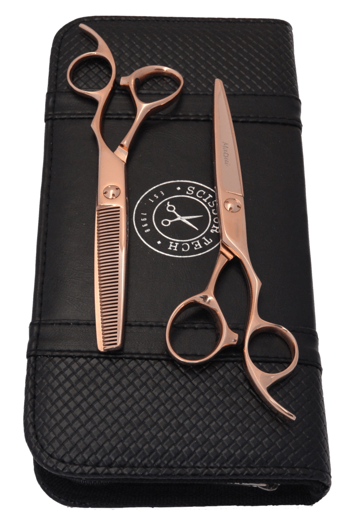 Matsui Rose Gold Offset Scissors & Thinner Combo (1477289836627)