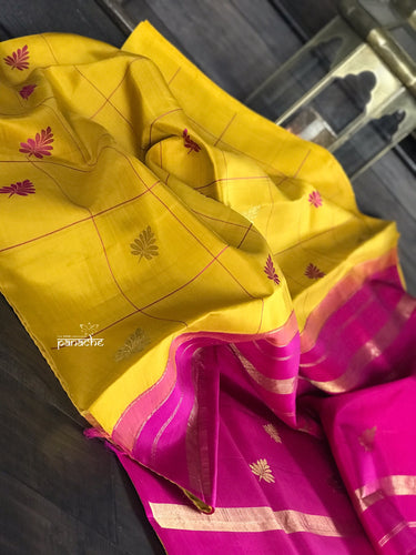 Silk Kanjivaram - Yellow Pink