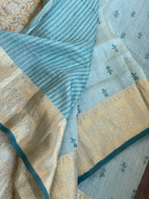 Muga Silk Banarasi - Powder Blue Embroidered