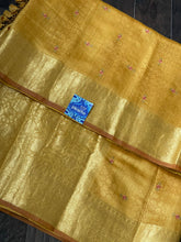 Muga Silk Banarasi - Ochre Yellow Embroidered