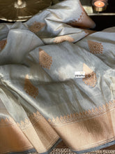 Pure Tissue Silk Banarasi - Silver Grey