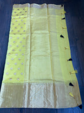 Pure Chanderi Silk - Yellow Eknaliya