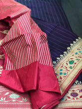 Pure Katan Silk Banarasi - Purple Paithani Border