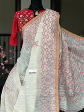 Pure Khadi  Handloom - Off-White Black Maroon Woven