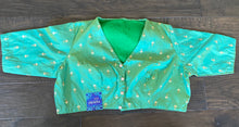 Designer Blouse - Green Dual Shaded