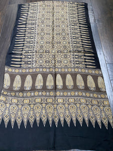 Stole Ajrakh Print - Grey Brown 6