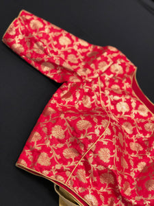 Designer Blouse - Red Brocade