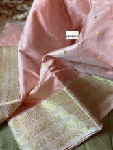 Pure Chanderi Silk - Light Pink Eknalya woven