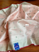 Pure Chanderi Silk - Blush Pink Eknaliya Woven