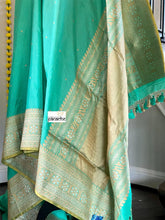 Pure Silk Katan Banarasi - Sea Green Kadhwa