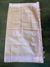 Chanderi Silk Cotton Tissue - Light Baby Pink