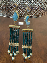 Jewelry Earring - Green Stone Gold