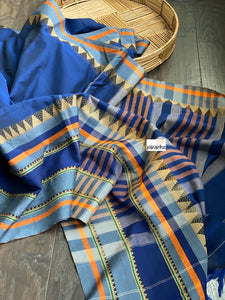 Narayan Peth Cotton Saree - Blue