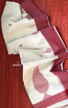 Pure Khadi  Handloom - Off White Red Border