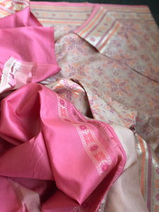 Pure Silk Patola Banarasi - Light Peach