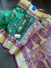 Soft Silk Paithani - Green Golden Zari