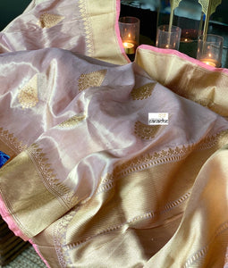 Pure Tissue Silk Banarasi - Blush Pink