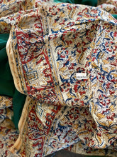 Chanderi Silk Cotton Kalamkari- Green Maroon Zari border