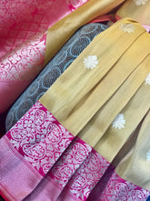 Exclusive Pure Tissue Silk Benarasi - Yellow and Pink