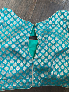 Designer Blouse - Rama Green Brocade