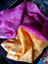 Shibori Silk - Orange and Pink
