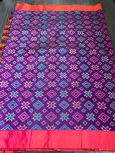 Pure Silk Banarasi - Purple Patola Woven