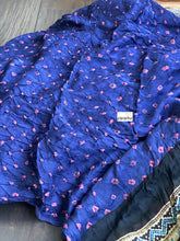 Silk Bandhani Ajrakh - Purple Blue Black Pink