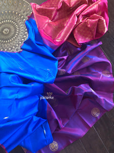 Silk Kanjivaram - Royal Blue Purple Magenta