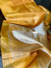 Pure Tissue Silk Kanjivaram - Mustard Golden Yellow