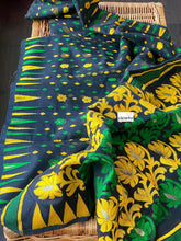 Soft Jamdaani- Black Green Yellow Woven