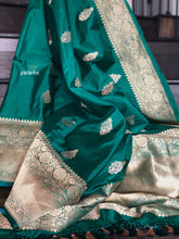 Pure Katan Silk Banarasi - Green Antique Zari