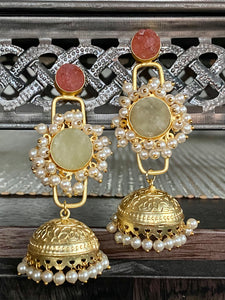 Jewelry- Lime Stone Gold earring