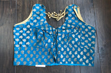 Designer Blouse - Blue Zari Brocade